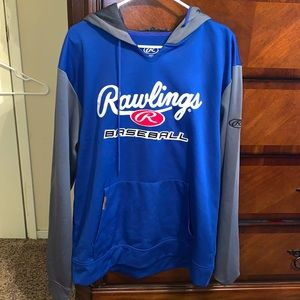 Rawlings baseball Hoodie like new size Medium.